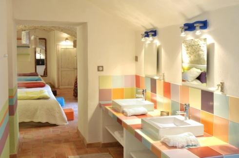 Décoration style provençal, Deco-salle-bain-enfants-N.V