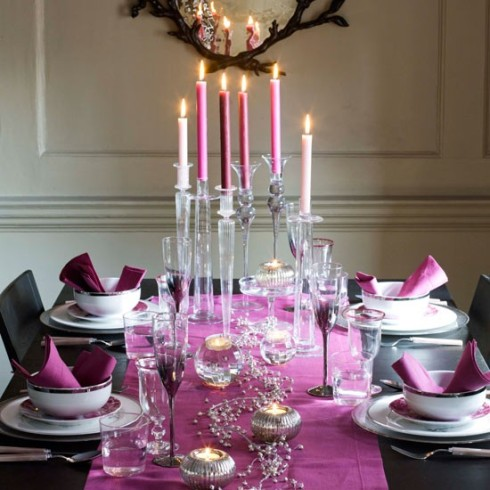 Table de fête au notes fucsia, RoyaumeStyleDeco