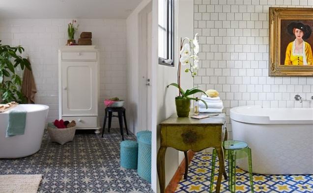 Revêtement sol salle de bain, grés-cérame