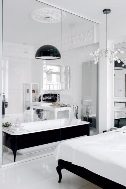 Salle de bain ouverte sur chambre construire salle de Salle de bain ouverte sur la chambre