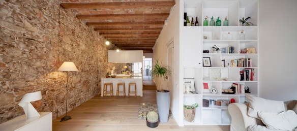 Renovación piso Les Corts, Barcelona, Sergi Pons. Vista general