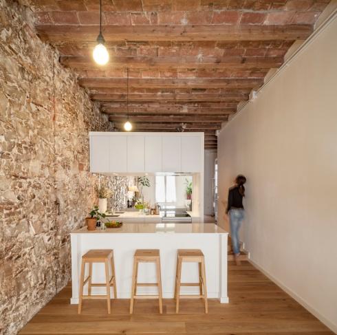 Rénovation appartement Les Corts, Cuisine. Sergi Pons Architects, Photo: Adrià Goula