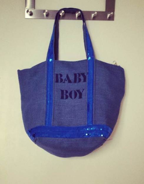 "Sac cabas Lily & Zoé, ""Baby Boy"". RoyaumeStyleDeco"