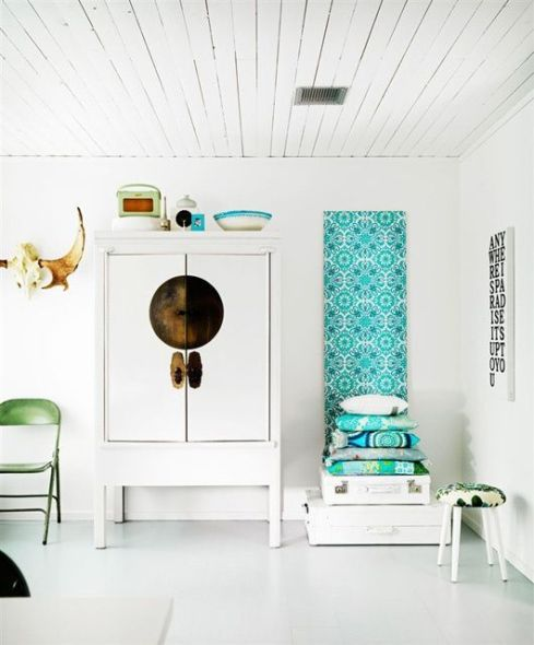 Armoire chinois blanche