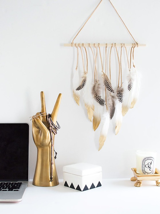 Attrape-rêve Dream catcher DIY via Homeyohmy.com