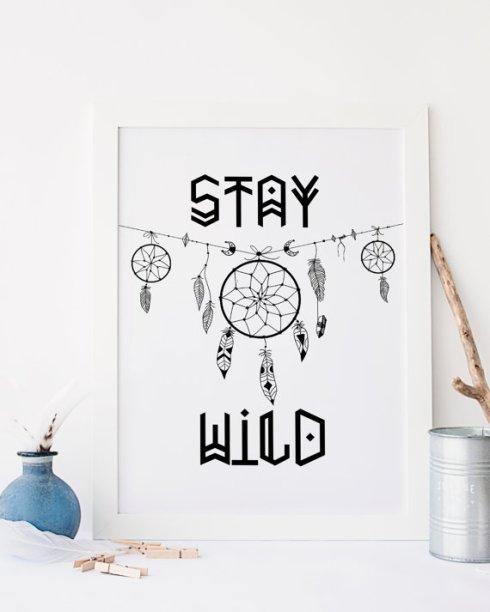 Cadre attrapeur de rêve Stay Wild Etsy